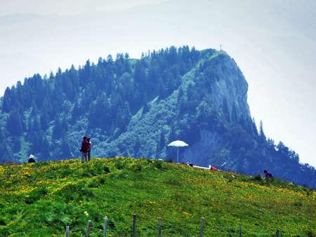Gonzen mountain or Gonzen Berggipfel in the Appenzell Alps mountain range - Canton of St. Gallen, Switzerland