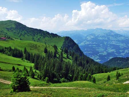 Tschugga peak or Tschugga Spitz in the Appenzell Alps mountain range - Canton of St. Gallen, Switzerland Stock Photo