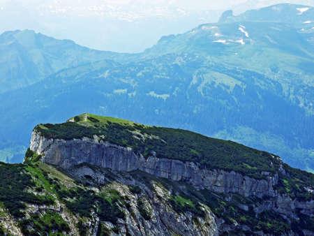 Alpine peak Gulme in Alpstein mountain range - Canton of St. Gallen, Switzerland