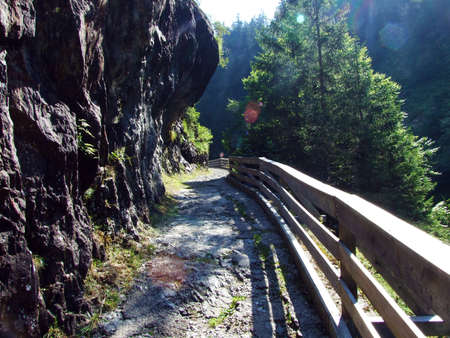 Stones and rocks in the Maderanertal alpine valley - Canton of Uri, Switzerland