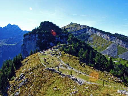 Alpine hill Ebenalp in the Alpstein mountain range and in the Appenzellerland region - Canton of Appenzell Innerrhoden (AI), Switzerland