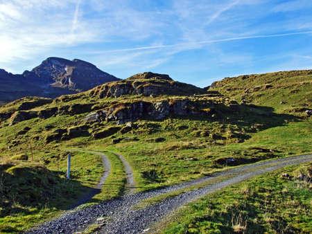 Hiking and walking trails on the Churfirsten mountain range and in the Toggenburg region, Starkenbach - Canton of St. Gallen, Switzerland