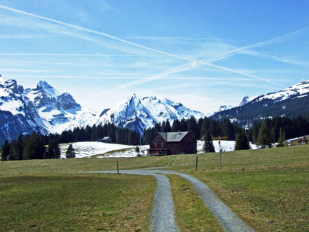 Walking and marked trails in the Thur river valley and in the Toggenburg region, Wildhaus - Canton of St. Gallen, Switzerland