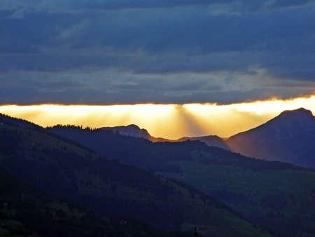 The amazing clouds over the Saminatal valley and Liechtenstein Alps - Steg, Liechtenstein