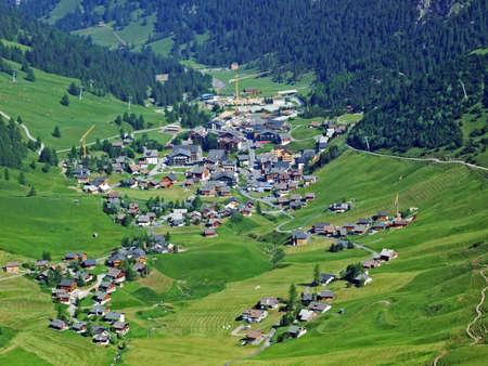 Ski-resort village Malbun in the Liechtenstein Alps mountain range - Malbun, Liechtenstein