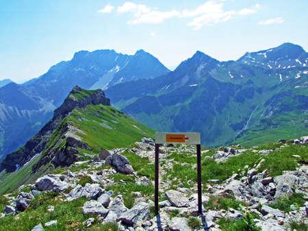 Walking and hiking trails over the Malbuntal alpine valley and in the Liechtenstein Alps mountain range - Malbun, Liechtenstein