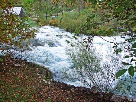 The first waterfalls on the Korana River, below the Plitvice Lakes National Park - Croatia (Prvi slapovi na rijeci Korani, podno nacionalnog parka Plitvicka jezera - Hrvatska)