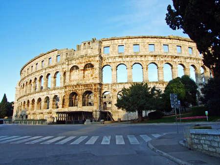 The Pula Amphitheatre, Arena in Pula or Roman amphitheatre in Pula - Istria, Croatia (Amphitheatre de Pula, Das Amphitheater in Pula, Pulska Arena ili Amfiteatar u Puli - Istra, Hrvatska)