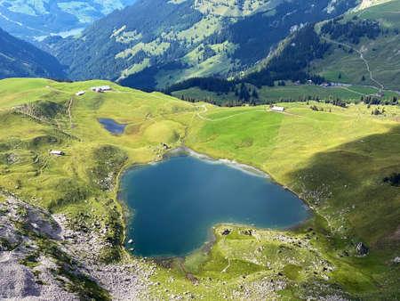 The alpine lake Seefeldsee or Seefeld Lake in the Uri Alps mountain massif, Sachseln - Canton of Obwalden, Switzerland (Kanton Obwald, Schweiz)