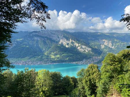 Lake Brienz between the mountain ranges of the Emmental Alps and Bernese Alps - Canton of Bern, Switzerland / Brienzersee zwischen den Bergmassiven Emmentaler Alpen und den Berner Alpen - Schweiz