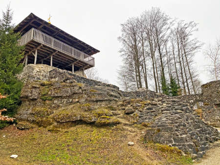 """Wolhusen castle ruins or Outer castle (Wolhusen Burgruine oder Ruine Ã""""ussere Burg Wolhusen) - Switzerland (Schweiz)"""