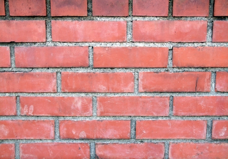 The wall of red brick  Stock Photo