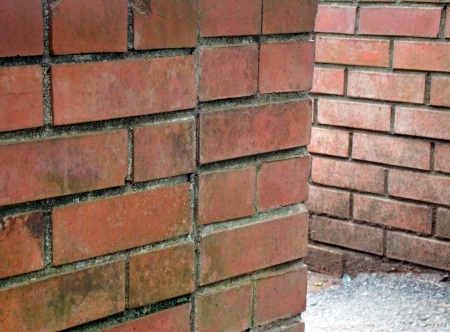 The wall of old brick