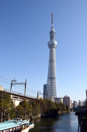 Tokyo SkyTree seen from GENMORIHASI Editorial