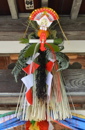 simekazari The sacred straw festoon with which the New Year is decorated