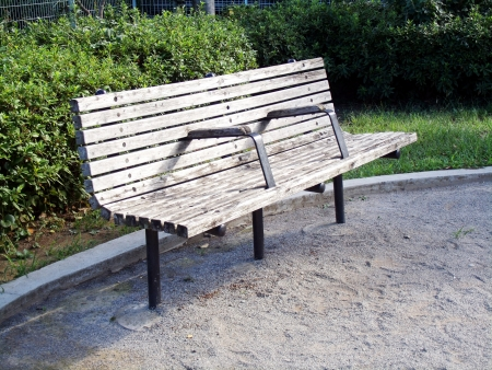 The bench of a park