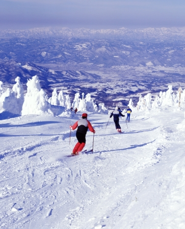 Zaou skiing area  Stock Photo