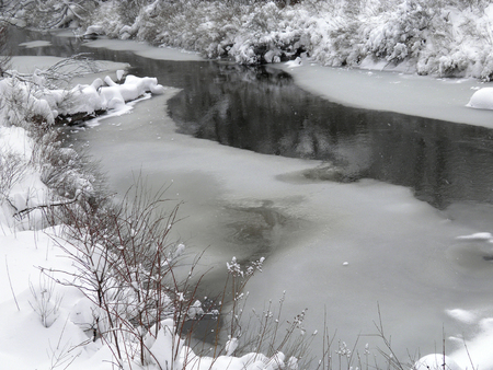Oku-Nikko in winter and Yukawa Stock Photo