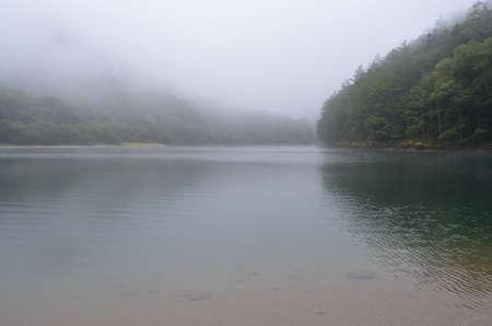 In the fog, Oku-Nikko and Lake Kareko