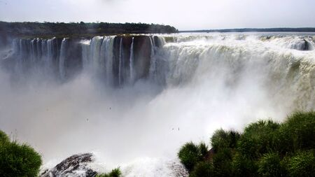 """The Iguazu Falls, were chosen as one of the """"Seven natural wonders of the world.""""They are located on the Iguazu River, on the border between the province of Misiones and the Brazilian state of Paraná"""