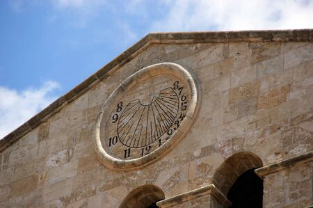 old solar clock in Palma de Mallorca, spain