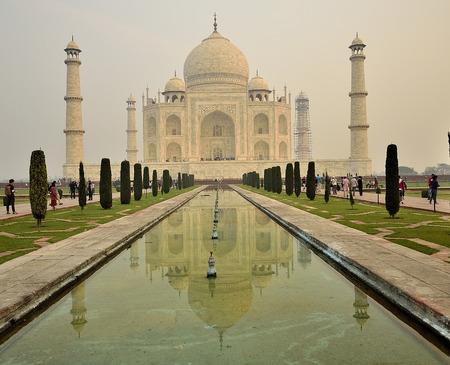 View to the Taj Mahal, India