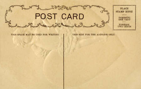 A Vintage Postcard with space for writing and a space for addressing. The postcard reads it can be sent in the US for one cent or overseas for two cents. Editöryel