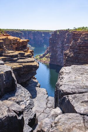 over  view of King George River Gorge in the Kimberleys in Western Australia