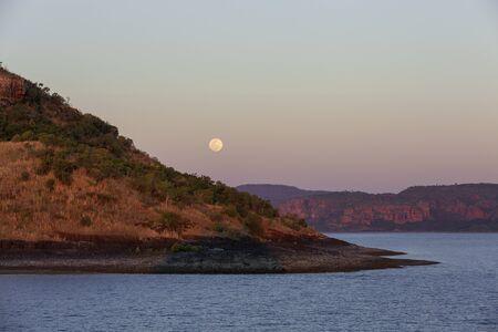 Kimberly coast, Australia  at moon rise