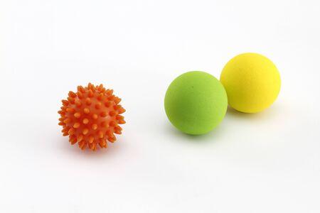 multicolored rubber koosh balls for finger training