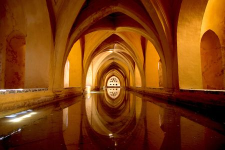 Water store of the Alcazar in Sevilla