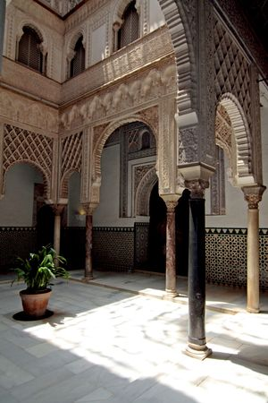 One of the Alcazars patios in Sevilla