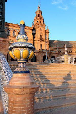 Stairs made of mosaic and ceramic, Plaza de Espana, Sevilla