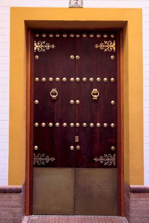 A wooden door, with metal ornement, Sevilla
