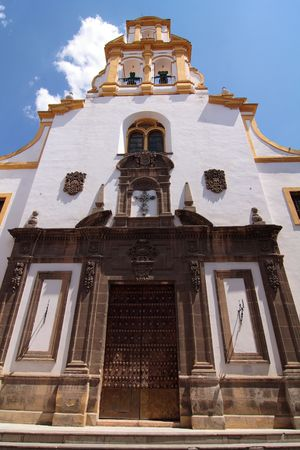 A colorful and typical Spanish church in Sevilla, Andalusia