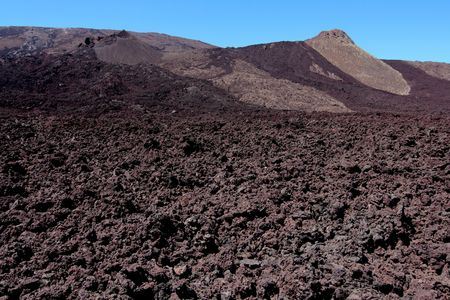 The last lava flow on the Piton de la Fournaise volcano, French Reunion island Stock Photo