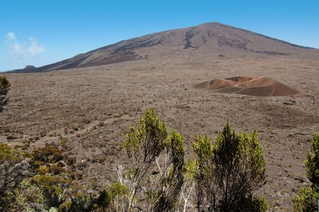 Fournaise volcano and Dolomieu crater, French Reunion island