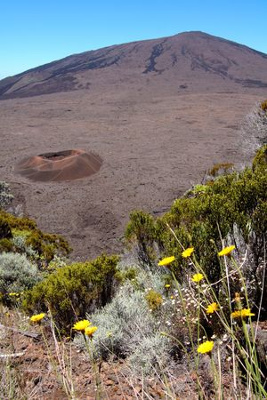 Dolomieu crater, on the Fournaise volcano, french Reunion island
