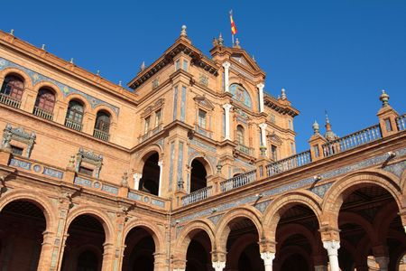 Main building on plaza de espana, spain Editorial