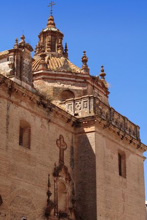 An ancient convent in Carmona, Andalusia Stock Photo