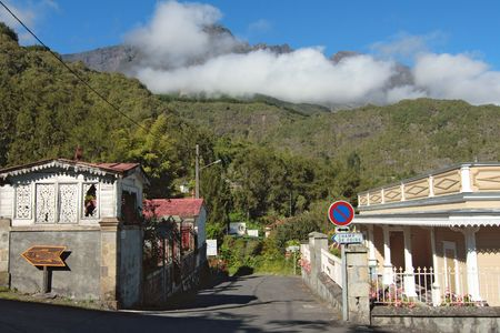 Street of Hell-Bourg village, Salazie caldera, Reunion Island