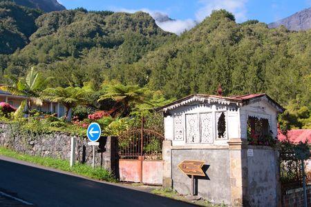 A street of Hell-Bourg village, Salazie caldera, Reunion island