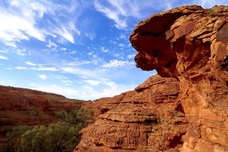 Hiking on Kings Canyon, Australian Red Centre