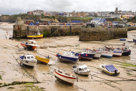 Picturesque fishing village and harbour in Cornwall, England
