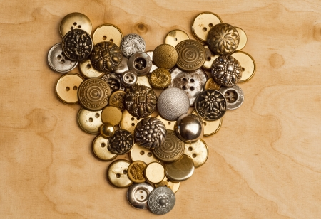 heart of sewing buttons Stock Photo