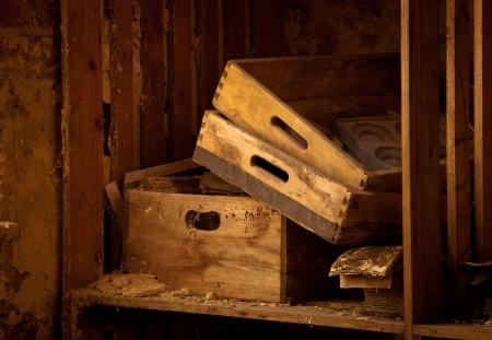 wooden shelves Stock Photo