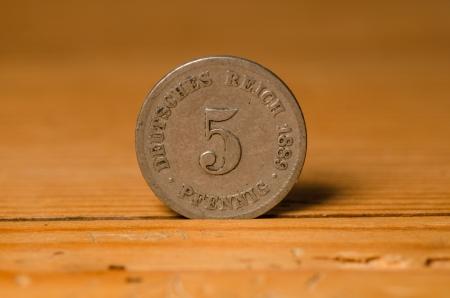 old german coin Standard-Bild
