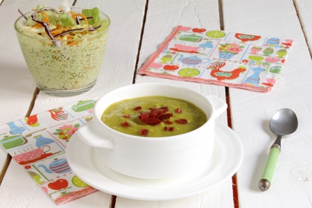 Vegetable soup with ham
