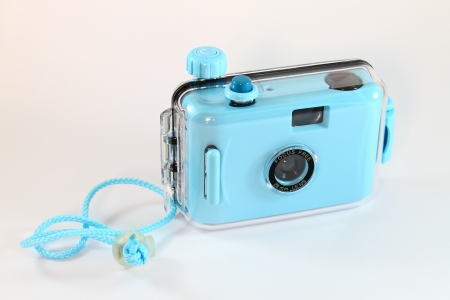 Waterproof camera Stockfoto