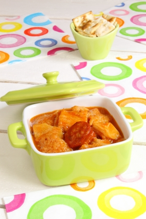 Casserole with tripe, chorizo and sauce Stock Photo - 18962611